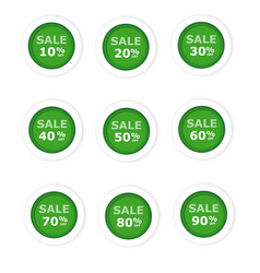 circular paper labels green discount vector image
