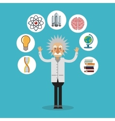 Colorful Einstein and science design vector