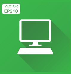Computer icon business concept computer desktop vector