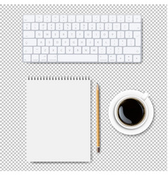 computer keyboard set isolated transparent vector image