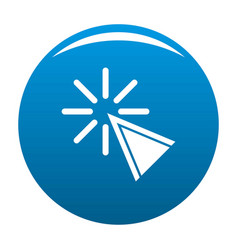 Cursor click icon blue vector