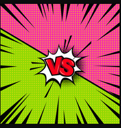 empty comic book style background versus design vector image