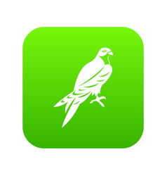 Falcon icon digital green vector