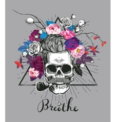 Fashion depicting skull vector image