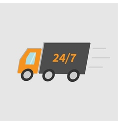 Fast delivery car isolated Flat vector image