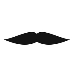 flat mustache icon simple style vector image