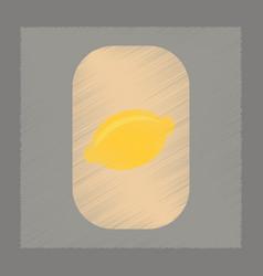 flat shading style icon lemon symbol vector image