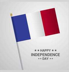 france independence day typographic design with vector image