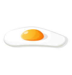 Fried egg icon cartoon style vector