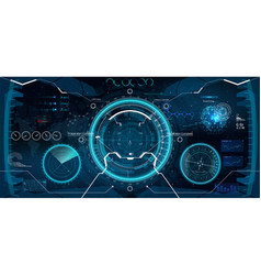 futuristic vr head-up display design vector image