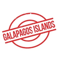 Galapagos Islands rubber stamp vector