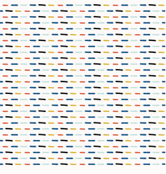geo doodle stripes orange and blue vector image
