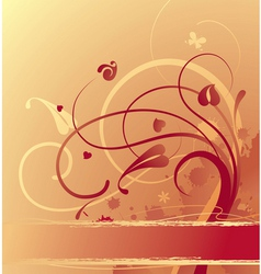 Goldfish background vector