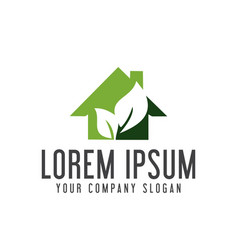green house logo real estate logo design concept vector image