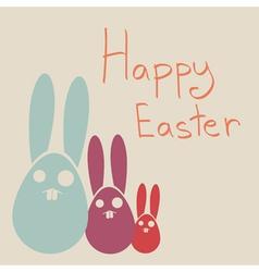 Happy Easter Rabbit Bunny vector image vector image