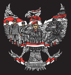 Indonesia independence day in garuda pancasila vector