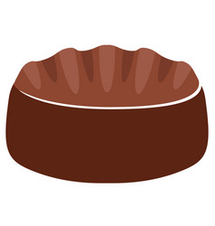 isolated chocolate marshmallow icon vector image
