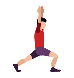 isolated person stretching icon vector image