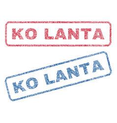 ko lanta textile stamps vector image