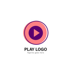 media play logo template design media play logo vector image