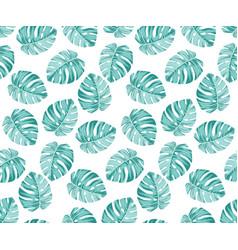 Monstera blue pattern vector
