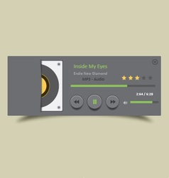 Music Player 25 vector image vector image