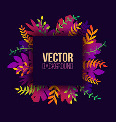 natural in trendy flat style with gradient vector image
