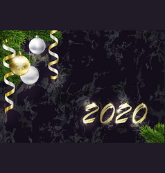 new year background with copy space golden 2020 vector image