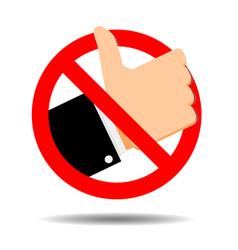 No like symbol ban addiction social media vector