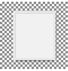 photo realistic square white blank picture frame vector image