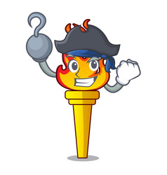 Pirate torch character cartoon style vector