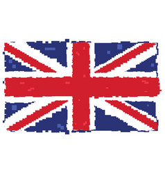 Pixelated flag of the united kingdom vector