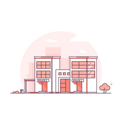 Police station - modern thin line design style vector