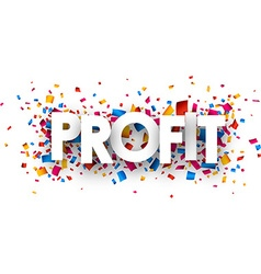 Profit sign vector