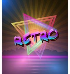 Retro Music Abstract Poster Cover 1980s Style vector