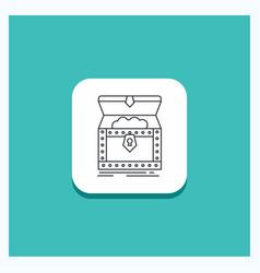 Round button for box chest gold reward treasure vector