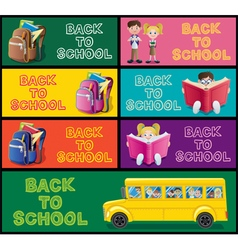 School Banner Set Part 1 vector
