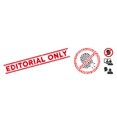 Scratched editorial only line seal and mosaic no vector