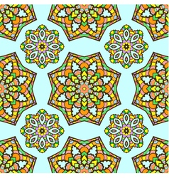 seamless pattern made from abstract mandalas vector image