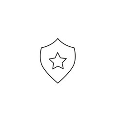 security shield star icon vector image