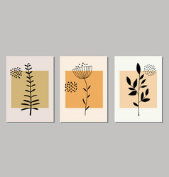 set botanical art prints vector image