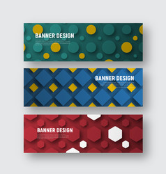Set of banners for a web site with different vector