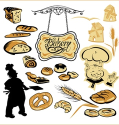 Set of different bakery vector