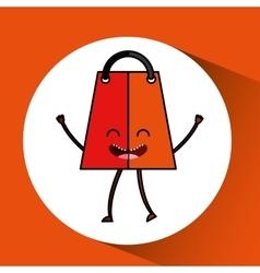shopping bag character design vector image