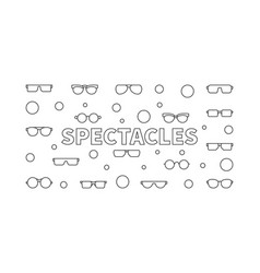 Spectacles horizontal linear vector