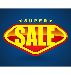 Super sale tag banner vector