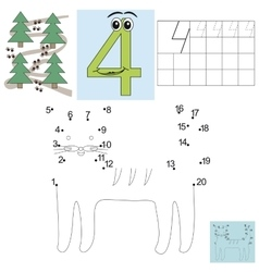 Task for children in mathematics Figure four vector image