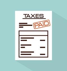 taxes concept vector image