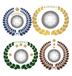 the theme handball vector image