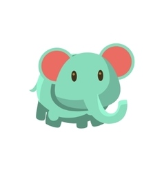 Toy Blue Elephant vector image